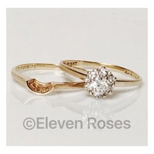Jewelry - 14k Gold 1/3 CTW Diamond Bridal Wedding Ring Set